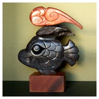 Fish Wish - Stone Sculpture
