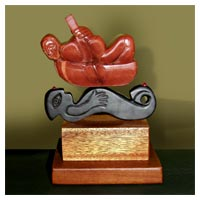 You Float My Boat - Stone Wood Sculpture